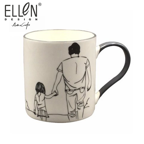 Wholesale Happy Father Day Design Ceramic Coffee Mug for Gift