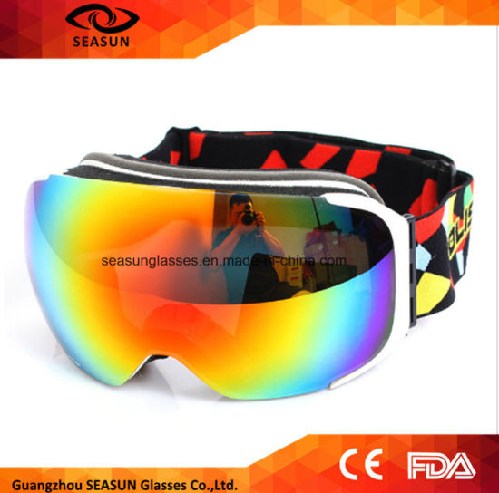 6444b92e08 Skiing Snowboarding Goggles Double Layer Ski Googles Men Women Spherical Ski  Eyewear Can Hold Myopia Snow Glasses