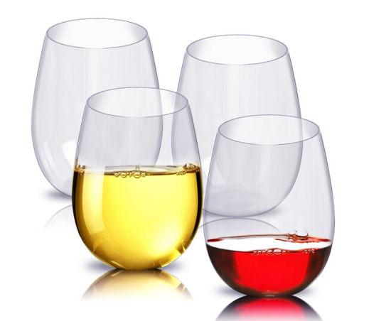 6937084300a Premium Unbreakable Plastic Stemless Wine Glasses 4oz pictures & photos