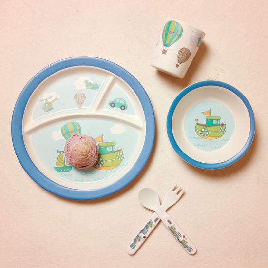 Eco-Friendly New Design Baby Bamboo Fiber Tableware Bamboo Fiber Dinnerware Sets (YK-BS1009) pictures & photos