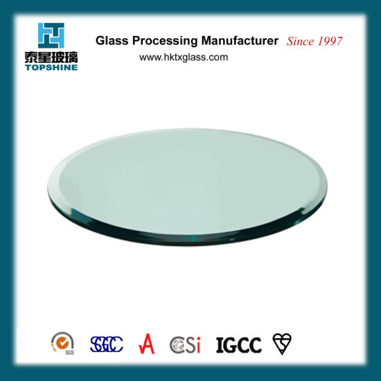 China Modern Design Tempered Round Glass Table Top For Dining Room