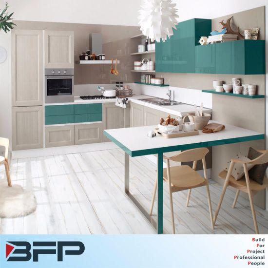 China Manufacturer Design L Shaped Modern Modular Kitchen Cabinet