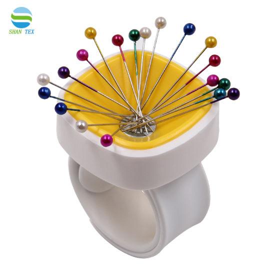 Wrist Magnetic Needle Box,Household Lovely Small Sewing Pin Wrist Magnetic Needle Box Needlework Sewing Tool Knitting DIY Wrist Magnetic Needle Box 1 Pcs