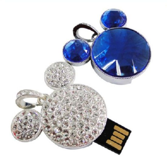 Cartoon Crystal USB Flash Drive Jewelry USB Stick pictures & photos