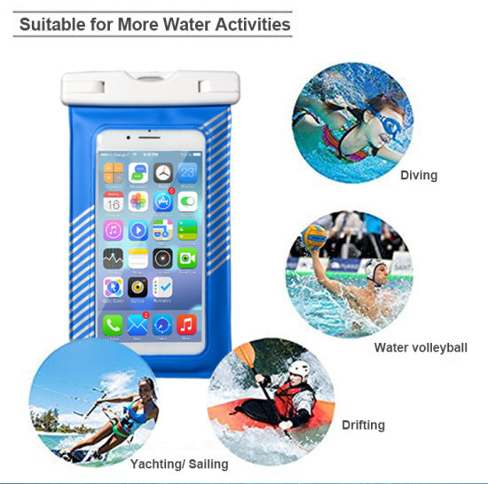 Factroy Price for 100% Seal High Quality PVC Colorful Universal Waterproof Case for iPhone 7plus/Samsung S8 pictures & photos