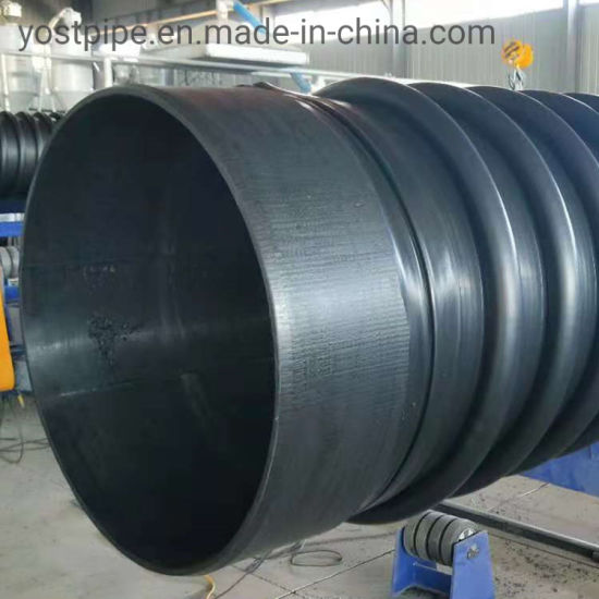 16inch Dn400 Sn8 HDPE Winding Structure Wall Plastic Pipe Krah Tube