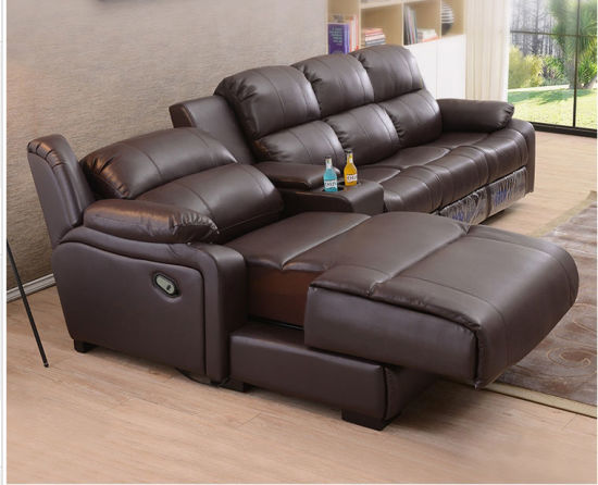 Cinema Modern Luxury Leather Automatic Living Room Hotel Recliner Sofa Couch Hb03-04