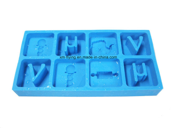Personalized Food Grade Alphabet Letter Shape Silicone Ice Cube Tray