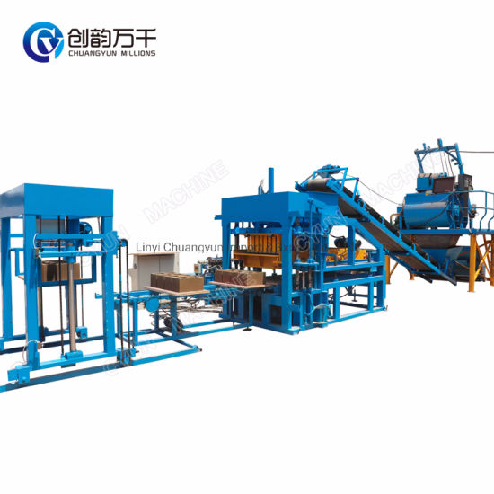 Construction Machine Qt4-15 Concrete Brick Making Machine Price with Concrete Batching Plant