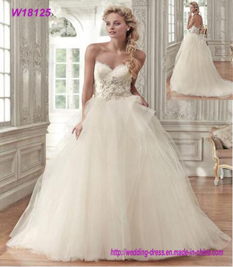 China Factory Wholesaler Bridal Wedding Dress Fashion Ladies Elegant ...