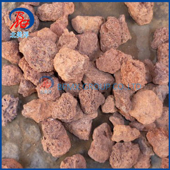 Light Weight Corrosion Resistanc Red Basalt Volcanic Stone