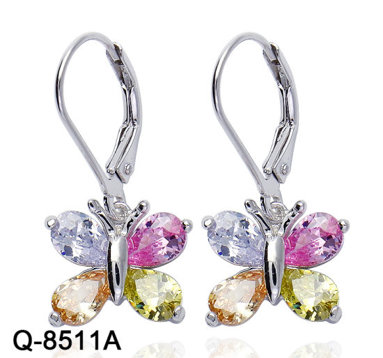 bb5d7e831 Hotsale Handmade 925 Sterling Silver Fashion Jewelry Multicolor Zircon Stone  Earrings for Women pictures & photos