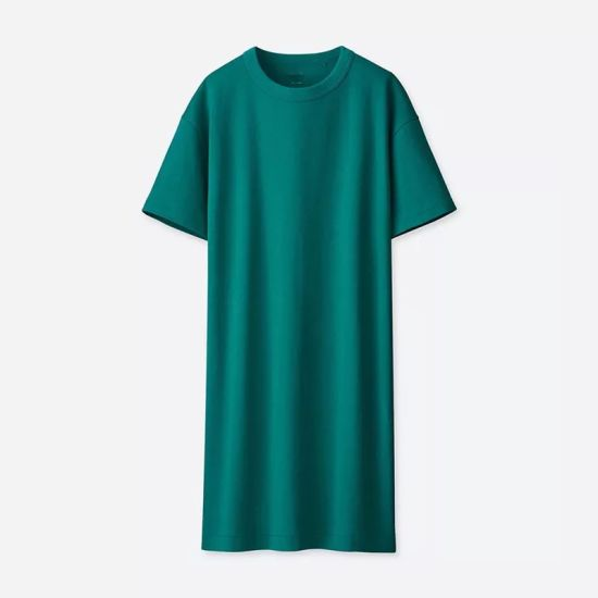 Women′s Basic Casual Loose Fit Short Sleeve Long T-Shirt Dress pictures & photos