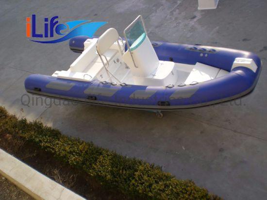 Ilife Ce New Design Inflatable Fiberglass Hull Luxury Rib Boat for Sale