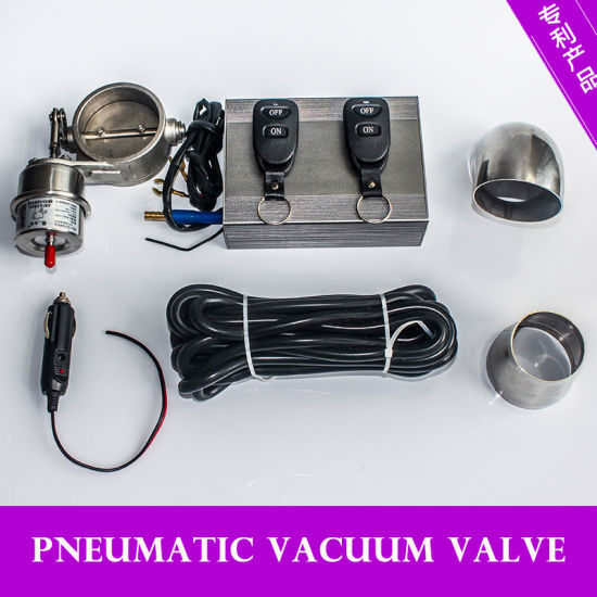 Racing 2′′ 2.5′′ 3′′ Pipe Open Style Vacuum Exhaust Cutout Valve pictures & photos