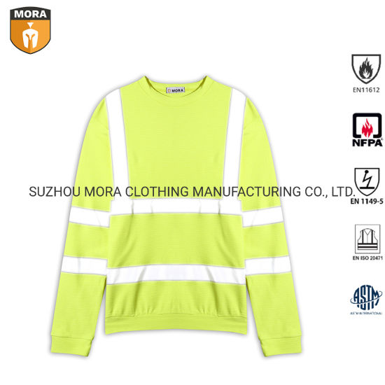 Fr Clothing 100% Fr Cotton Uniform Reflective Shirts with Long Sleeve pictures & photos