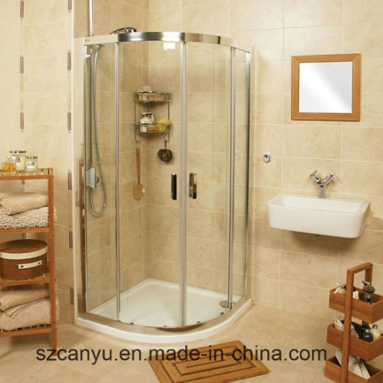 Simple Corner Bath Glass Shower Enclosure/Shower Room pictures & photos
