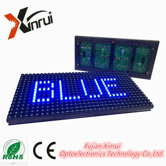 P10 Blue Single Color LED Module of Text Screen of Advertising Module /Display
