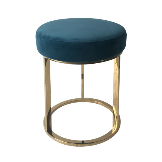 Enjoyable Modern Round Velvet Ottoman Pouf Dresser Stool Chair With Gmtry Best Dining Table And Chair Ideas Images Gmtryco