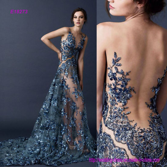 A Ravishing Avant Garde Transpa Open Back Evening Dress