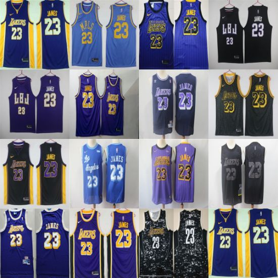 2019 Wholesale Los Angeles Lakers James Stitched Replica Basketball Jerseys