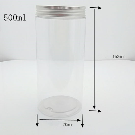 Clear Plastic Pet Container, Recycled Plastic Wide Mouth Cosmetic Jar