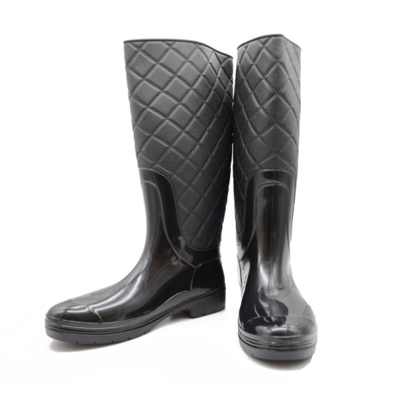 PVC High Cut Waterproof Rain Boots Ce Certificate