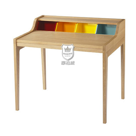 Small Colorful Solid Wood Writing Desk Corner