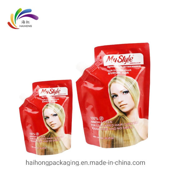 Hair Styling Products Use Aluminum Foil Nozzle Bag Stand up Spout Pouch for Hair Treatment pictures & photos