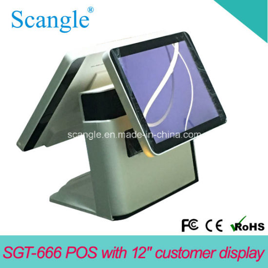 15inch Dual Screen All in One Touch POS System Sgt666