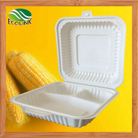 1000ml Cornstarch Disposable Biodegradable Food Box pictures & photos