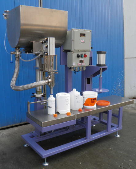 Paint Filling and Capping Machine/Equipment by Weight Type pictures & photos