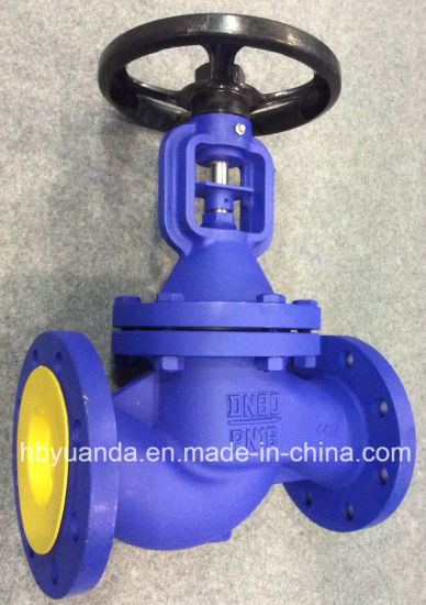 DIN3356 ductile iron flanged end bellow seal globe valve China pictures & photos
