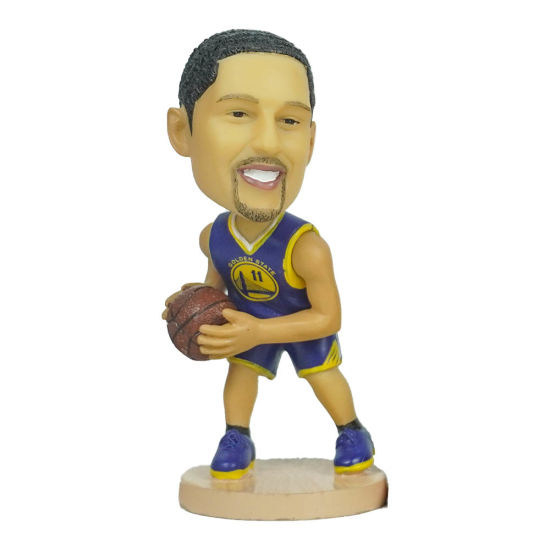Polyresin Famous NBA Champions Superstar Baller Klay Action Figure Car Dashboard Bobble Head for Souvenir and Gift