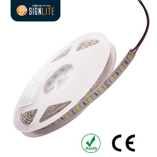 Manufacturer 300LEDs/ 60LED/M Warm White SMD5050 LED Flex Strip Light