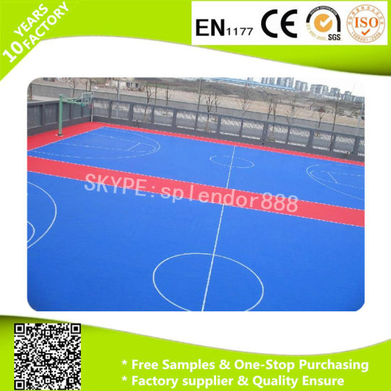 City Kidergarten Roof PP Interlock Suspended Removable Colorful Flooring pictures & photos