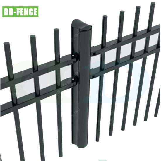 Handfree Wrought Iron Steel Tubular Picket Fence for Villa Garden House