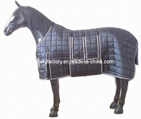 China Indoor Horse Rug with Belly Wrap