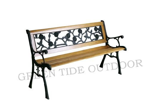 China Cheap Cast Iron Garden Park Chairs Antique Wooden Park Bench