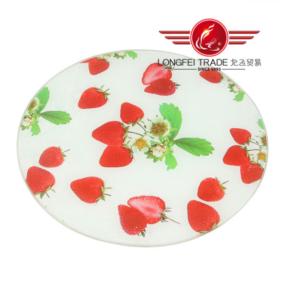 Round Tempered Glass Cutting Board pictures & photos