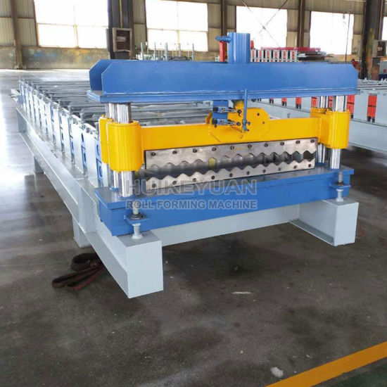 Hky Color Steel Tile Roll Forming Machine Auto-Production Line for Wall and Roof Panel