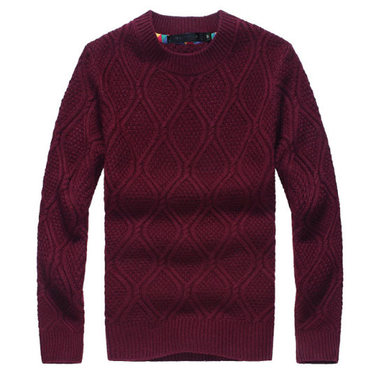 Guangzhou Manufacsturer Man Fashion Pullover New Knitted Sweater Horsale Factory