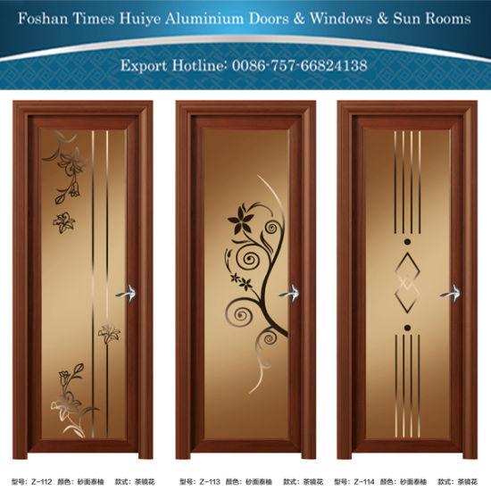 Coffee Color Aluminum/Aluminum Bathroom/Casement/Toilet/Hinged Door & China Coffee Color Aluminum/Aluminum Bathroom/Casement/Toilet/Hinged ...