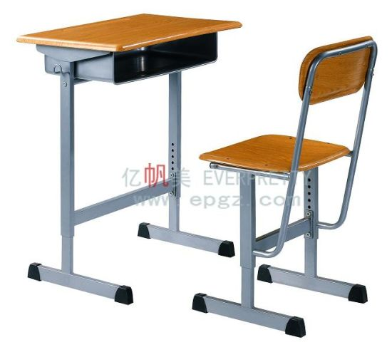 School Furniture Adjustable Single Student Desk&Chair pictures & photos