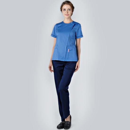 a4086660dfe Fashionable Nurse Hospital Uniforms/Medical Scrubs for Women/ Surgical  Uniform pictures & photos