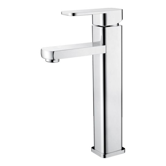 Luolin Bathroom Tall Basin Faucet Vanity Mixer Sink Tap Lead Free Brass Body Hand Wash Lavatory Spout, Chrome 575-3