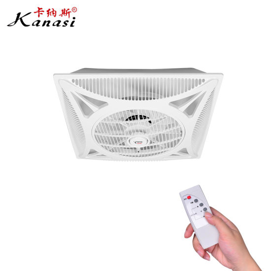 350 mm ABS False Drop Ceiling Box Fan with Remote Control