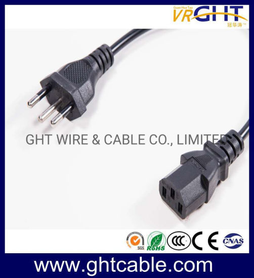 Brazil Power Cord & Power Plug for PC Using (NBR14136)
