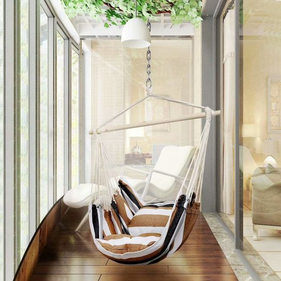 Outdoor Relaxed Swing Hanging Hammock Chair with Cushion