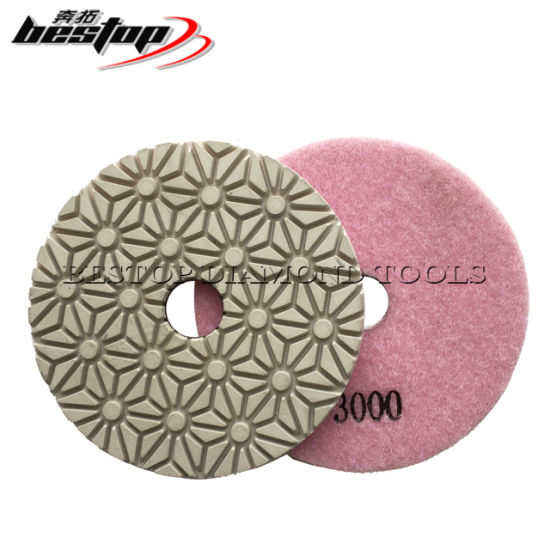 4 Inch Flexible Diamond Wet Engineered Stone Polishing Pad pictures & photos